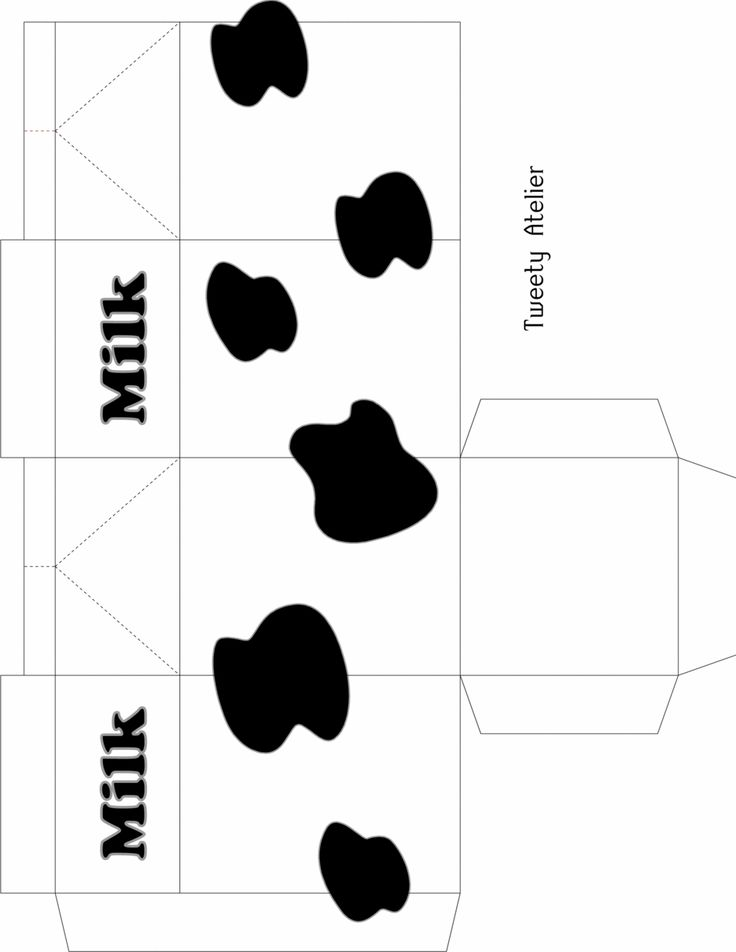 Cute Milk Carton Template - Paper Kawaii