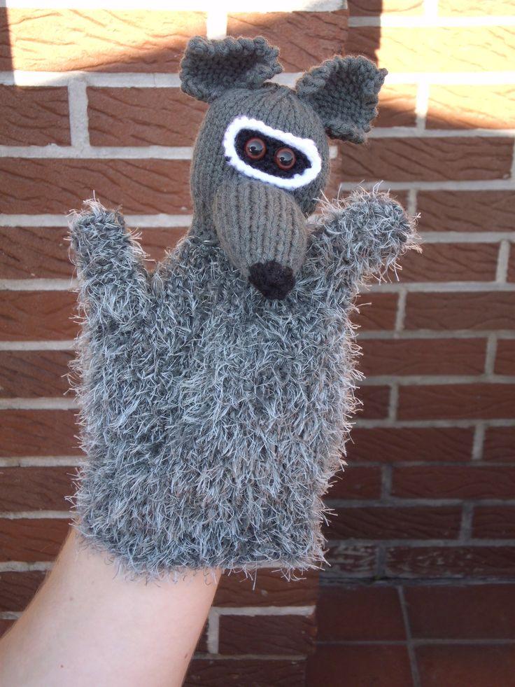 Wasbeer voorzijde axenroos, breien, knitting:
