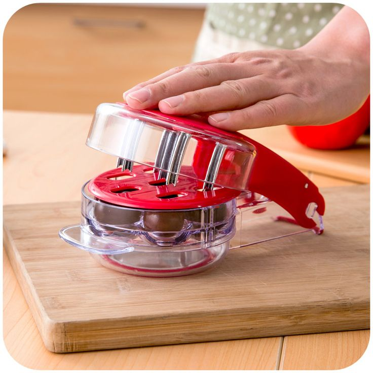 New Handy Plastic Cherry Pitter 6 Hole Cherry Corer Kitchen Accessories Fruit Cherry Pit Creative Kitchen Tools Cherries Corer