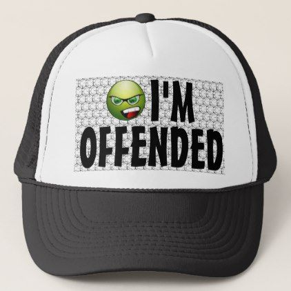 I'm Offended Angry Smiley Bubble Wrap Trucker Hat - diy cyo personalize design idea new special