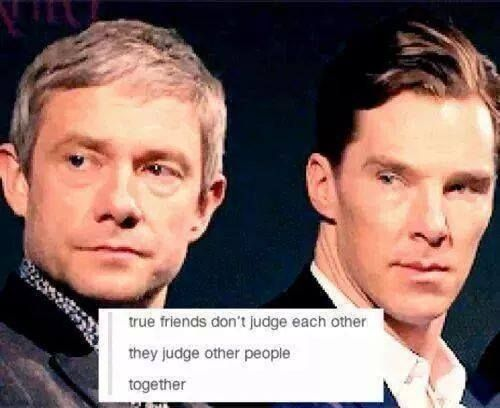 They judge other people.......together. NICE!