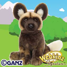 Webkinz Collection Catalog (Not this guy, but I have a standing African Wild Dog...named him Picasso...yeah, so many of the species/breeds Webkinz did I have in other forms.)