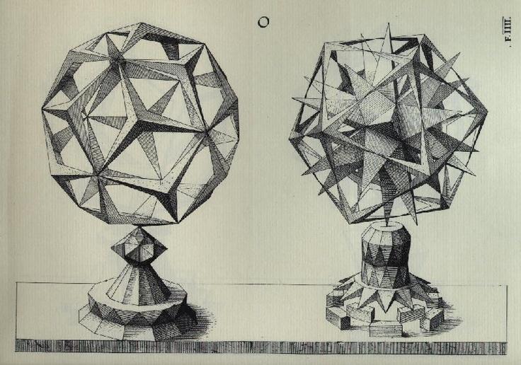 Christoph Jamnitzer - Les solides de Kepler-Poinsot (XVIe siècle).