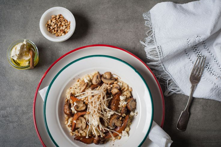 The most scrumptious millet and mushroom risotto ever!