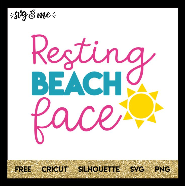 Perfect free svg for a beach vacation, honeymoon or the summertime. Make a cute DIY water bottle, tote bag or swimsuit coverup to enjoy the summer sun! Compatible with Cricut, Silhouette, and don't miss the rest of our huge library of free svgs!
