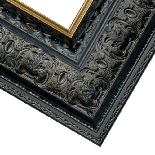 """This satin black picture frame brings a distinctive gallery-ready presentation to your art for a truly timeless look. Made of natural wood by Artisans in America, this floater picture frame features a deep rabbet for up to ¾"""" canvas that suspends and separates your art from the moulding/5(45)."""