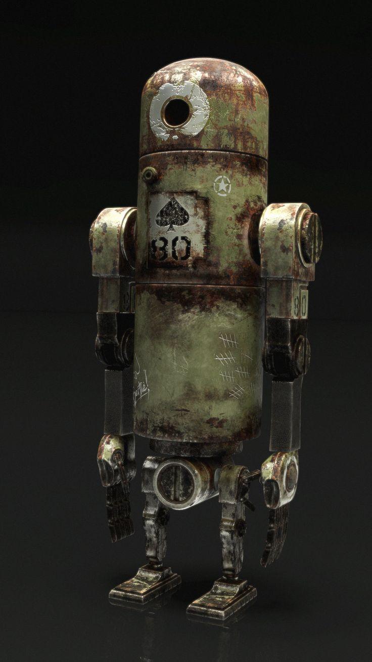Bertie World War Robot inspired by ashley wood w.i.p