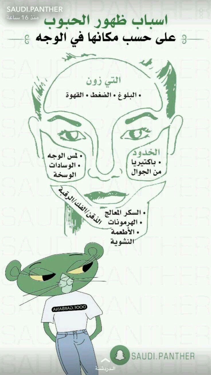 أسباب ظهور حب شباب على حسب مكانها في الوجه Skin Care Women Skin Care Diy Masks Pretty Skin Care