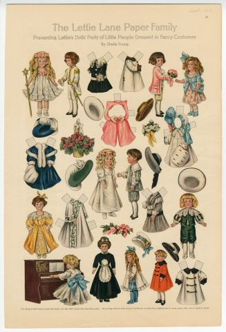 75.2757: The Lettie Lane Paper Family: Lettie's Dolls' Party | paper doll | Paper Dolls | Dolls | Online Collections | The Strong: