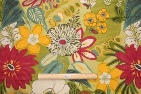 Floral/Vine Prints :: 2.5 Yards Robert Allen Lillith Printed Cotton Drapery Fabric in Spring - Fabric Guru.com: Fabric, Discount Fabric, Uph...
