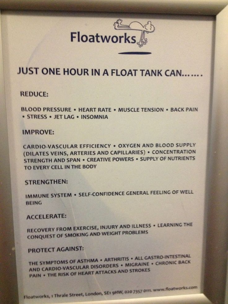 Floatworks Facts Floatation Tank