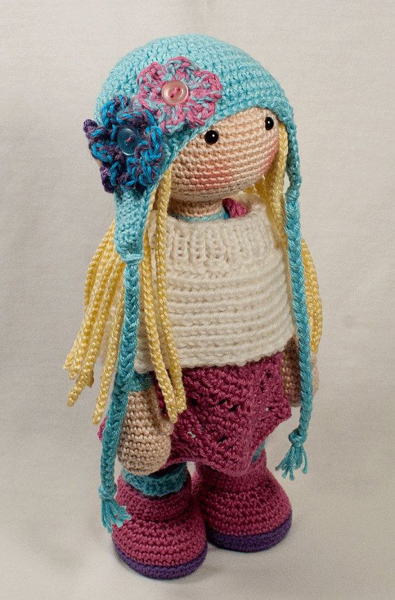 Crochet pattern for doll SUE by CAROcreated on Etsy