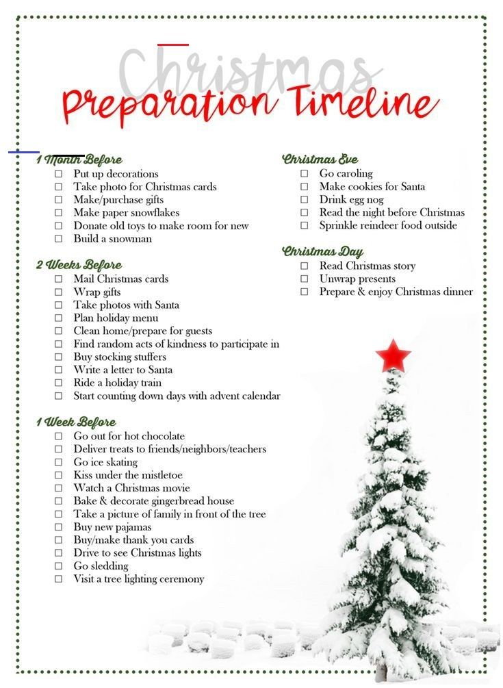 Donate Old Christmas Cards 2020 Christmas Preparation Timeline [by Laurel Smith]   The DIY