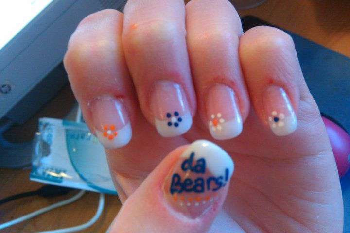 Image detail for -Chicago Bears Football Nail Art | Cool Nail Art Designs