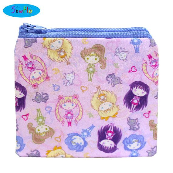 NEW Zip Bag-Zipper Bag-Sailor Moon Bag-Coin Purse-Change