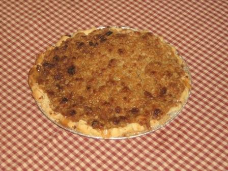 Apple-crumble pie.