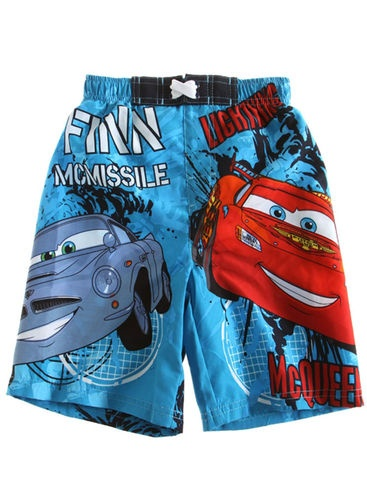 DISNEY CARS Boys  3T 4T 5T 6T 8T Shorts SWIM TRUNKS Bathing Suit