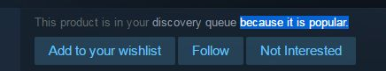 Steam Discovery Queue: A Confusing Mess