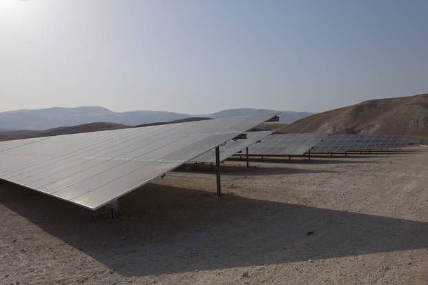Seeking Energy Independence Palestinians Open Solar Plant Solar Energy Independence Energy