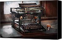 Steampunk - Typewriter - A Really Old Typewriter  Photograph by Mike Savad - Steampunk - Typewriter - A Really Old Typewriter  Fine Art Prints and Posters for Sale