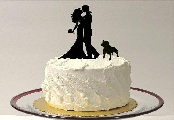 BULLDOG BRIDE GROOM Cake Topper von CreativeButterflyXOX auf Etsy