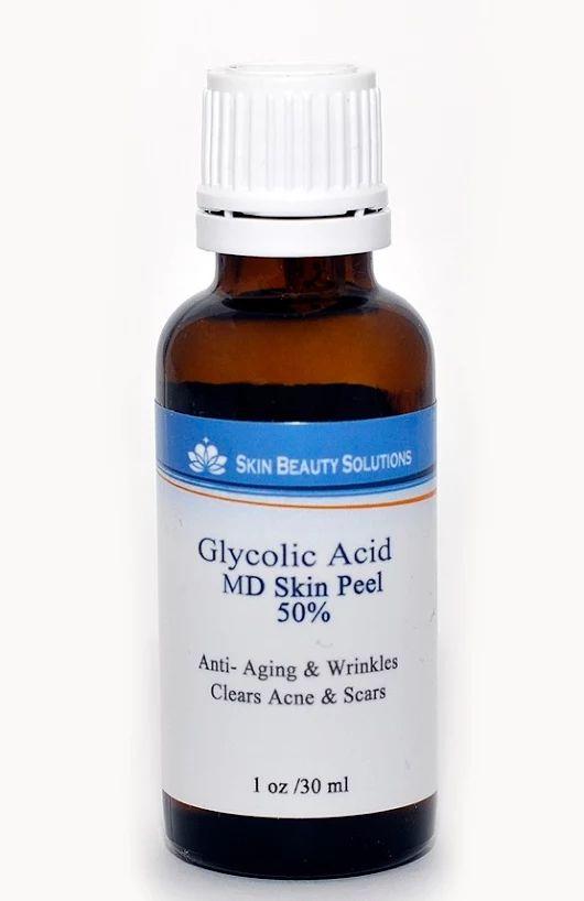 Acido Glicolico 50% 30ml Peeling Chimico 30 ml di soluzione chimica esfoliante con acido glicolico al 50% e pH 2.0. Lozione ideale per la rimozione di piccole rughe e macchie solari. Contiene abbastanza soluzione per 15 esfoliazioni.