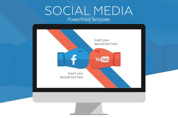 Social Media PowerPoint Infographics by PresentationDeck on @creativemarket