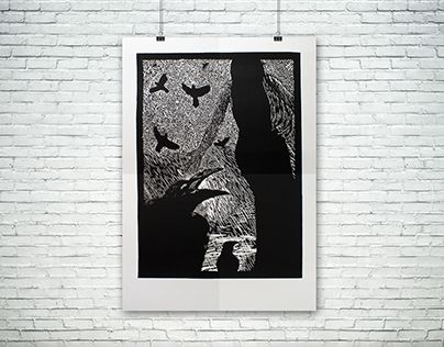 """Check out new work on my @Behance portfolio: """"Linocut / Linoryt"""" http://be.net/gallery/33767488/Linocut-Linoryt"""