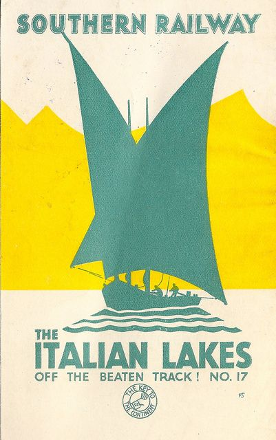 "Southern Railway of England - ""Off the Beaten Track"" travel leaflet No. 17, The Italian Lakes - c1933 