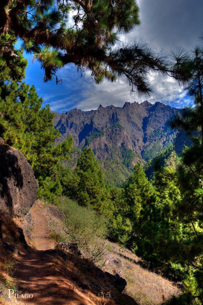 La Caldera de Taburiente en La Palma, Islas Canarias (España)
