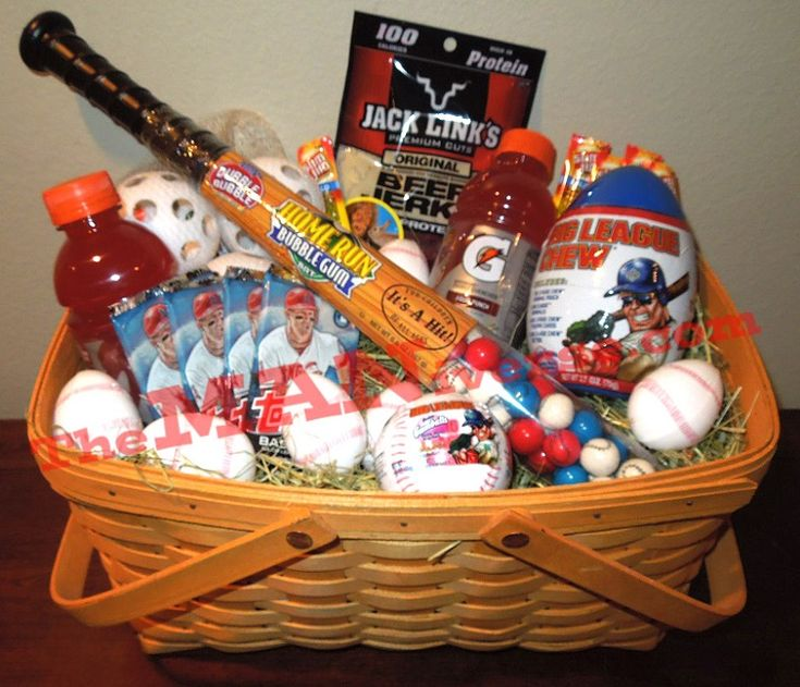 25 unique baseball gift basket ideas on pinterest end of not your traditional easter basket love this for any little boy everything bought negle Choice Image
