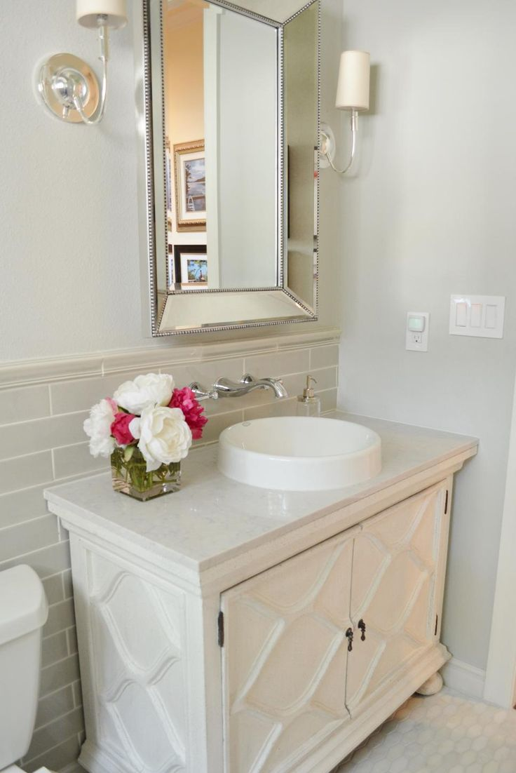 Before and after bathroom remodels on a budget l 39 wren scott vanities and marbles Cheap bathroom remodel before and after