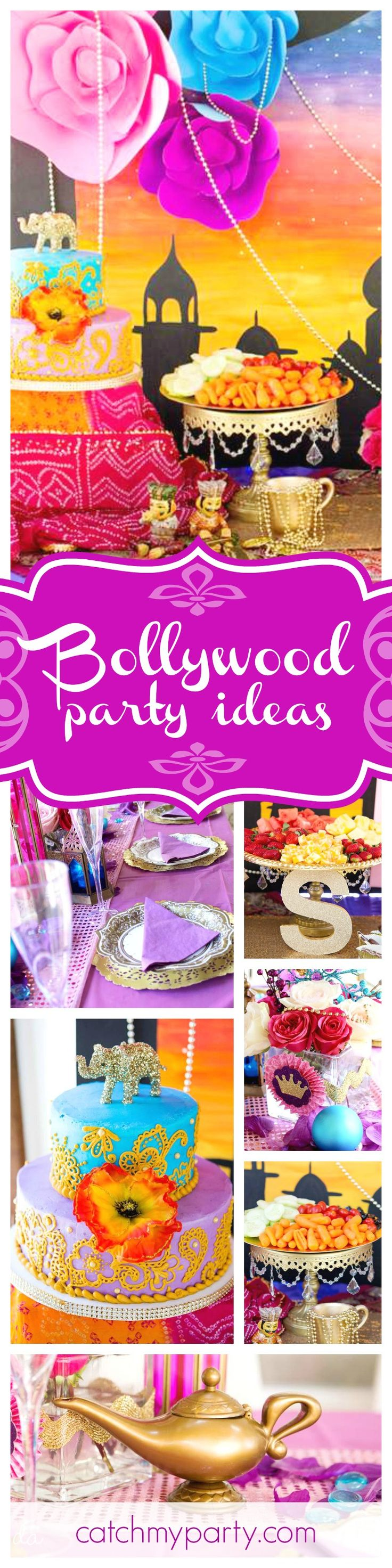 Get ready to dance the night away with this fantastic exotic Bollywood Dance Party! The birthday cake is amazing!! See more party ideas and share yours at CatchMyParty.com