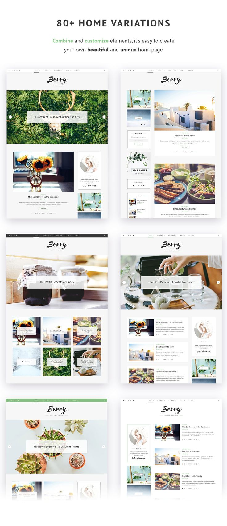 A delicious design for your blog! Get it now and start writing to your stomach's content! #food #blog #love #theme #template