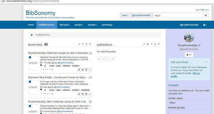 BibSonomy profile Royalhomerealty-http://www.bibsonomy.org/user/royalhomerealty