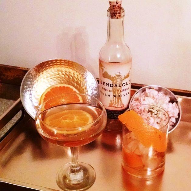 Orange Ginger Whiskey Cocktail With Glendalough Distillery #cocktails