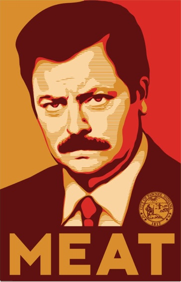3.6 Ron Swanson:  What happened to the steaks that were in there when they closed? (tearily) Do you think they got eaten?