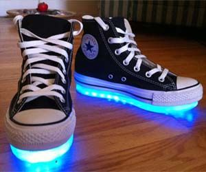 Light Up Black High Tops
