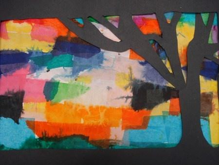 """Tree Silhouettes""  Artsonia Art Museum :: Artwork by Qynne1"