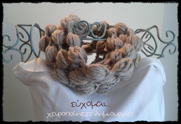 handmade pom pom necklace scarf