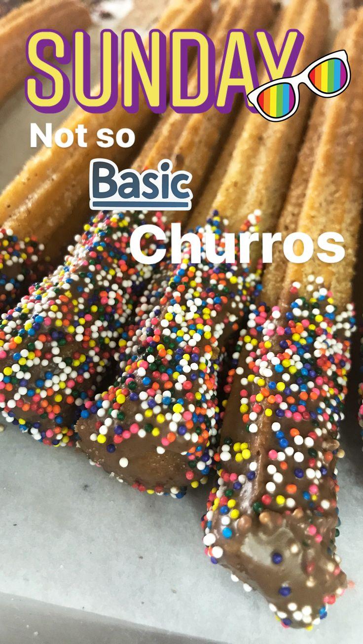 SPRINKLE CHOCOLATE CHURROS from EL BOLILLO BAKERY in HOUSTON, TX #churros #sprinkles #chocolate #elbolillo #elbolillobakery #pandulce #mexicandessert #mexicantreats #mexicanbakery #houston #mexicanparty #fiesta #birthday #breakfast #chocolatechurros #uniconcha #panaderia #bakery #localhouston #houstonbakery