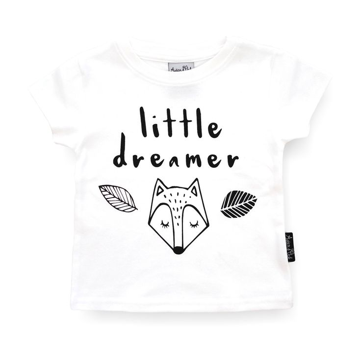 Organic Cotton Baby & Kids T-Shirt 'Little Dreamer' White