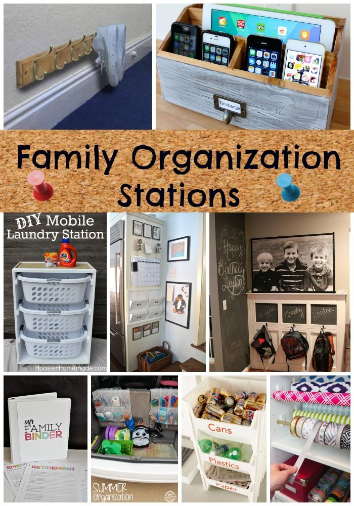 Get organized NOW!! Family organization stations!