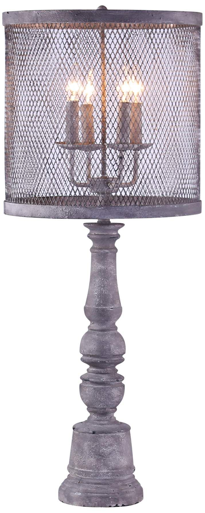 Arlington Gunmetal 4 Light Table Lamp W Metal Mesh Shade Di 2020