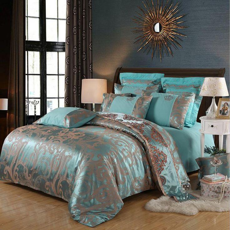 Comforter Bedding Sets Tencel Silk Luxury Duvet Cover Bed