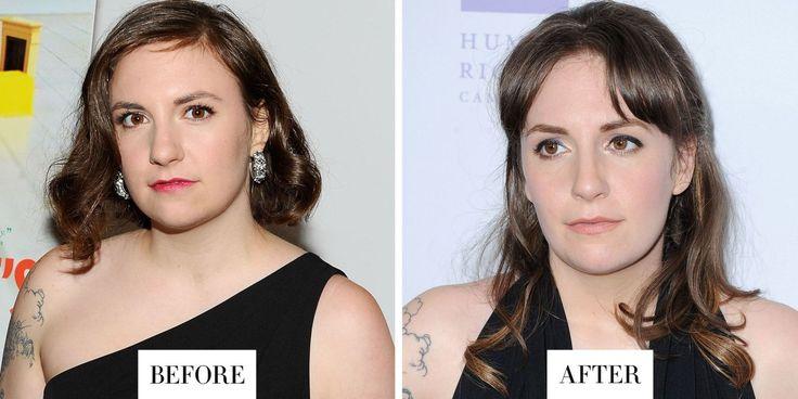 Lena Dunham ha dichiarato di recente di aver fatto il microblading, una procedura semipermanente per tutuare le sopracciglia. Le sopracciglia appaiono poco folte, ma assolutamente naturali.