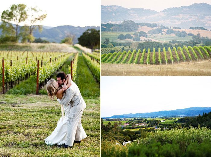 7. A lovely location #modcloth #wedding Napa Valley Winery