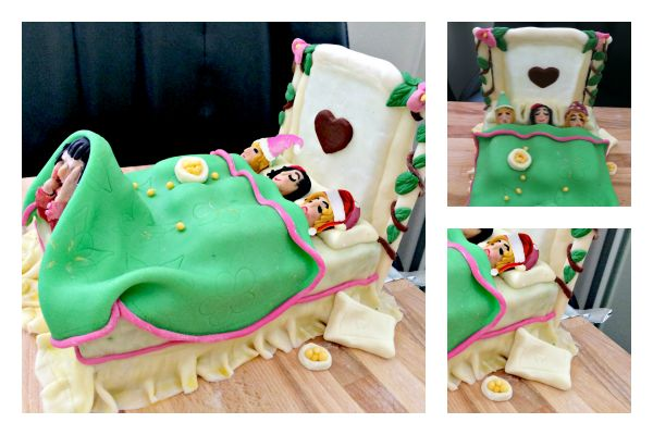 Bed cake for teens
