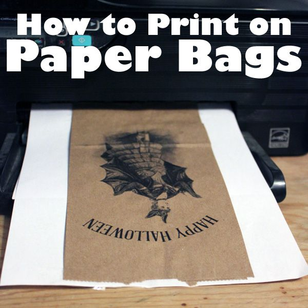 Today we have a quick and easy technique for you...How to Print on Brown Paper Bags