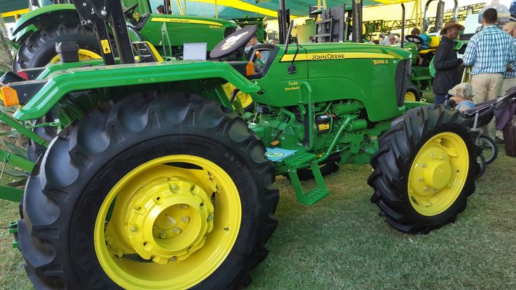 John Deere 5055 E tractor on show at the 2016 Nampo Harvest Day, Bothaville, Free State, South Africa